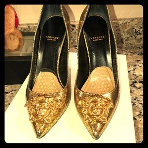 Versace stiletto heel